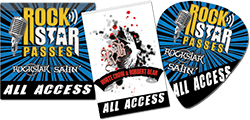 Looking for something unexpected for your event? Check out our Satin Sticky Passes!